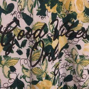 "Lane Bryant Tops - Lane Bryant ""Good Vibes Only"" lemon 🍋 t-shirt"